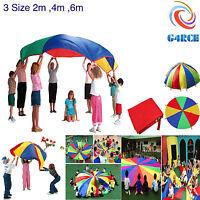 Kids Play Rainbow Parachute Outdoor Garden Exercise Sport Toys Activities 4M 6M