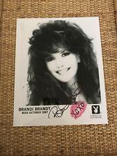BRANDI BRANDT ORIGINAL 8X10 BLACK & WHITE PLAYBOY PROMO SHOT AUTOGRAPH & KISS!!