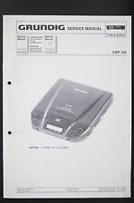 GRUNDIG CDP 100 Discman Original Service-Manual/Anleitung/Schaltplan/Diagram o84