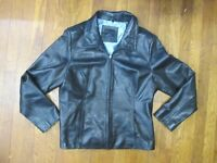 Apt 9 Black BUTTERY SOFT Lambskin Leather Full Zip Jacket Women's Large