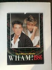 More details for wham calendar official danilo 1986 condition as new ( george michael & ridgeley)