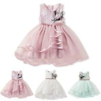 Toddler Baby Kids Flower Girls Princess Pageant Wedding Party Tutu Dress Clothes
