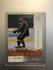 2000/01 Sp Authentic Future Watch Rookie RC Marian Gaborik /900 Wild