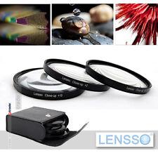 46mm Macro Close Up +2 +4 +10 Lens Set Kit FOR  canon pentax sigma