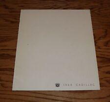 Original 1968 Cadillac Full Line Deluxe Sales Brochure 68 Fleetwood Deville
