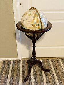"BOMBAY COMPANY Replogle 12"" World Classic Series Floor Globe w/ Wood Stand"