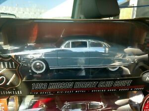 1953 Hudson Hornet Club Coupe blue Highway 61 1:18 scale diecast