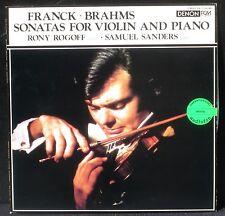Franck Brahms  Rony Rogoff & Samuel Sanders Denon Japan OX 7106 LP NM/M, CV NM -