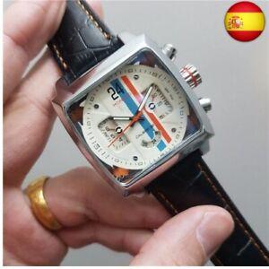 Monaco-Reloj de pulsera para hombre, de lujo, automático, Tourbillon, para