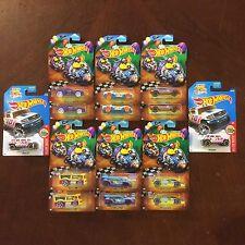 Set Lot Of 2 - 2017 Hot Wheels EASTER Walmart Exclusive 6 Piece + ROCKSTER