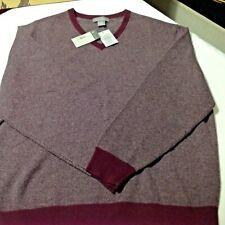 Daniel Cremieux Signature Wool/Cashmere Wine Heather Men Sweater XL 75% off New