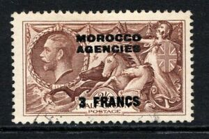 Morocco Agencies KGV 1935-36 Seahorse 2s.6d Chocolate Brown SG225 Used