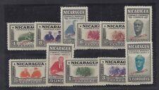 NICARAGUA 695-700, C272-76 MNH FRANKLIN  ROOSEVELT MEMORIAL *SPECIMEN* OVERPRINT