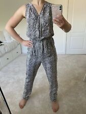 J.O.A Womens Navy Animal Jumpsuit