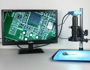 Full HD 38MP 2K 1080P@60FPS Industry Digital Video Microscope Magnifier USB TF