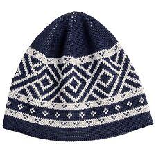 Kodiac - NWT - O/S - Navy Blue Retro Geometric Wool Blend Calvin Beanie Hat