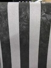 P + S Carat Vlies Tapete 13346-40 PS Gestreift Schwarz Silber Grau Glitzer