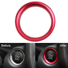 Console Engine Start Key Push Button Ring Trim Cover For Mazda 3 Axela 2014-2017
