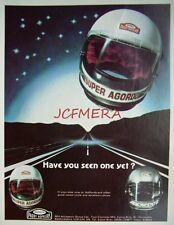 2 x 1979 Paddy Hopkirk AGORDO Motor Cycle Helmet ADVERTS: Vintage Print Ads 492j