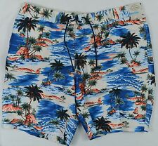 "St. John's Bay NEW Men's Size XXL Multi-Colored 10"" Inseam Swim Trunks"