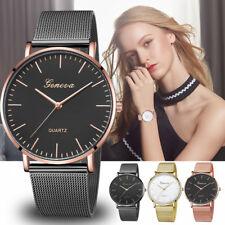 New Fashion Womens Classic Quartz Stainless Steel Wrist Watch Bracelet Watch UK