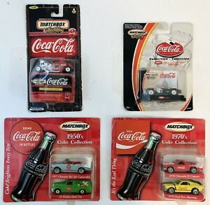 MATCHBOX COLLECTIBLES COCA-COLA LOT - 1950s, 1970s, MGA Convertible & Ford Coupe
