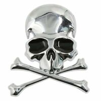 Metal 3d Wicked Skull Bone Shape motorcycle car emblem badge sticker V3M8