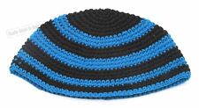 Blue Stripe Knitted Kippah Yarmulke Tribal Jewish Hat Covering Cap Holy Gift