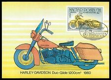 UNGARN MK MOTORRAD MOTORCYCLE HARLEY DAVIDSON CARTE MAXIMUM CARD MC CM al23