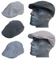 Cool4 Sommer Leinen Flatcap Schiebermütze Herren Vintage Gatsby Cap Mütze E08