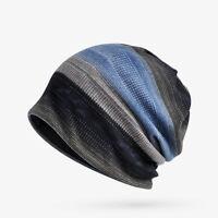 LN_ EG_ Women Man Winter Fashion Stripe Hat Beanie Cap Scarf Plush/Without Plu