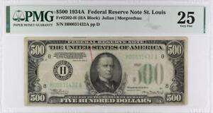 $500 Federal Reserve Note, H00031432A  PMG VF 25, Fr. 2202-H