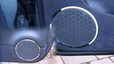 D Mercedes CLK W208 Chrom Ringe für Lautsprecher- Tür unten - Edelstahl poliert