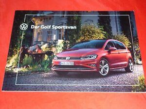VW Golf Sportsvan Trendline Comfortline Highline Prospekt Brochure Depliant 2019