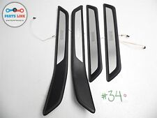 09-12 BMW F02 LWB 750LI 750 DOOR SILL STEP SCUFF PLATE TRIM SET WITH LIGHT OEM