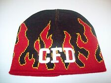 Chicago Fire Department Hat Beanie w/ Flames