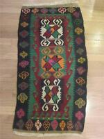 "Kilim Hand Loomed Wool Area Rug Eastern Turkey Vintage Turkish 21"" x 33"" AS"
