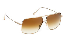 12f9bc0bef DITA FLIGHT 005 Aviator Sunglasses in Gold-brushed frame and Brown Lens