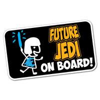 Future Jedi On Board Baby Sticker Decal Car Vinyl Sign Window Cute #6312EN