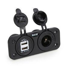 Auto Boot Marine 12V Dual USB Ladegerät Socket mit Drähten Stecker Steckdose