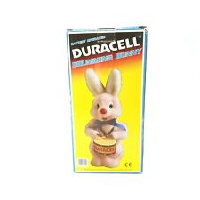 VTG 80's Duracell Mascot Drumming Marching Pink Bunny Battery Operated - Tested