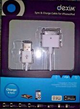 Sync & Charge Cable for iPhone, iPod & iPad (White) [Dexim DWA008W]