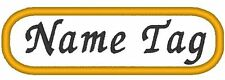 """Custom Embroidery 3 1/2"""" x 1 1/2"""" Name Tag Patch Emblem Motorcycle Biker #016"""