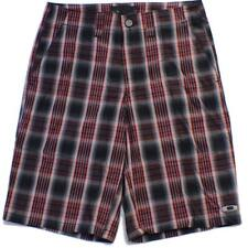 Oakley Fresher Shorts Size 32 M Black Red Mens Casual Striped Golf Walkshorts