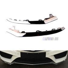 x2 For Mercedes W212 E350 2014-2016 Front Bumper Chrome Trim Molding Right Left