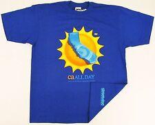 STREETWISE CA ALL DAY T-shirt California Tee Men XL,2XL,3XL,4XL Royal Blue New