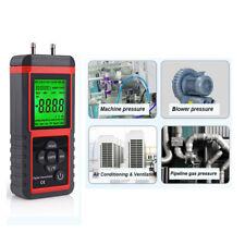 Luftdruckmesser LCD Anzeigen Digital Manometer Differential Gas Druck Prüfer Neu