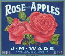 """(3) OLD ORIGINAL GORGEOUS 1930 """"ROSE/ GLADIOLA /DAISY BRAND"""" CRATE LABELS ART CA"""