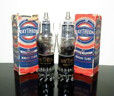 Matched Pair (2) Raytheon NOS/NIB 6F8G Black T-plates tubes - Test NEW