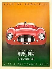 Hand-Signed Razzia Small L.V. Parc Bagatelle 1997 Poster On Linen